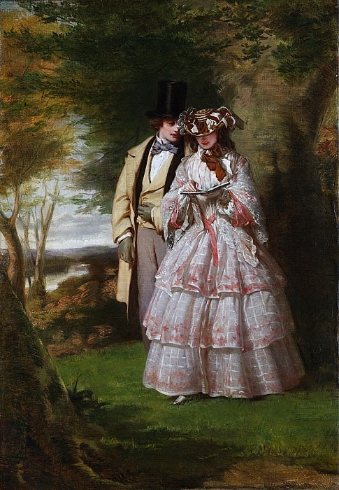 William Powell Frith - The Two Central Figures in Derby Day. Metropolitan Museum: part 2