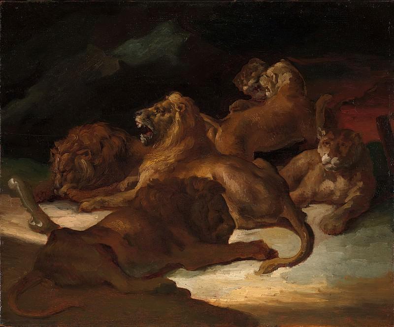 Théodore Gericault - Lions in a Mountainous Landscape. Metropolitan Museum: part 2