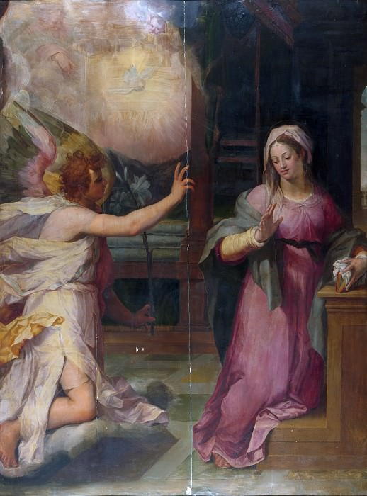 Pieter de Witte (Netherlandish, Bruges ca. 1548–1628 Munich) - The Annunciation. Metropolitan Museum: part 2