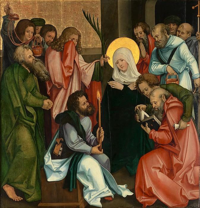 Hans Schäufelein - The Dormition of the Virgin; (reverse) Christ Carrying the Cross. Metropolitan Museum: part 2