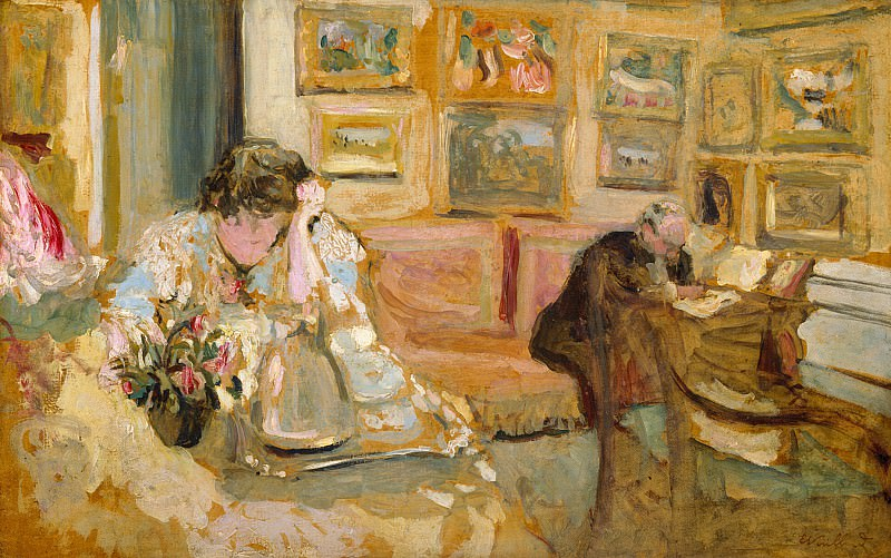 Édouard Vuillard - Jos and Lucie Hessel in the Small Salon, Rue de Rivoli. Metropolitan Museum: part 2