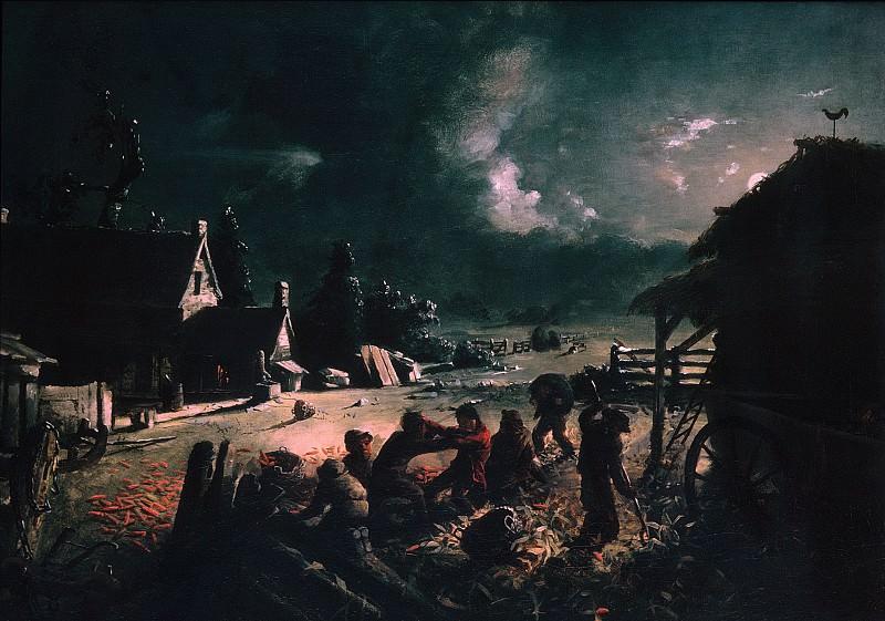 David Gilmour Blythe - Corn Husking. Metropolitan Museum: part 2