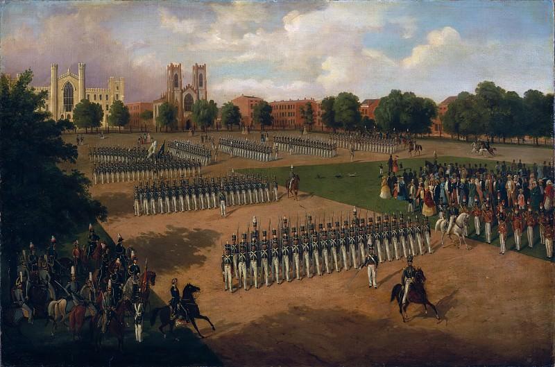 Otto Boetticher - Seventh Regiment on Review, Washington Square, New York. Metropolitan Museum: part 2