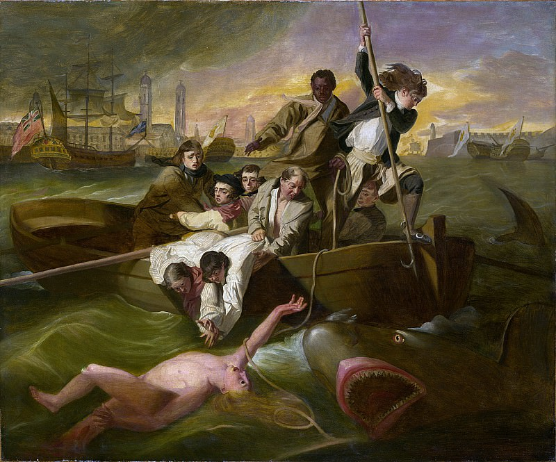 After John Singleton Copley - Watson and the Shark. Metropolitan Museum: part 2