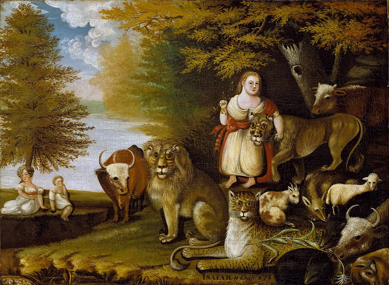 Edward Hicks - Peaceable Kingdom. Metropolitan Museum: part 2