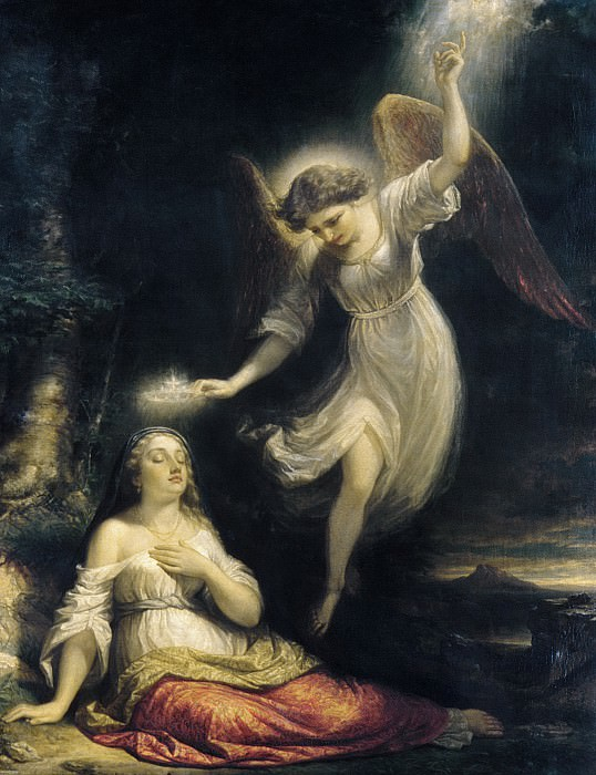 Daniel Huntington - Mercy's Dream. Metropolitan Museum: part 2