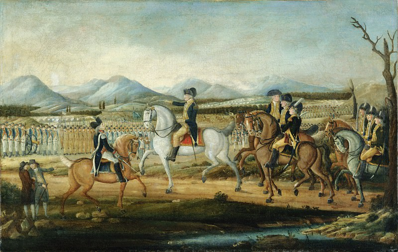 Attributed to Frederick Kemmelmeyer - Washington Reviewing the Western Army at Fort Cumberland, Maryland. Metropolitan Museum: part 2