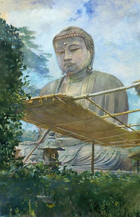Джон Ла Фарж - Великая статуя Амида Будды в Камакура, известной как Дайбутсу, в Саду Священника. Музей Метрополитен: часть 2
