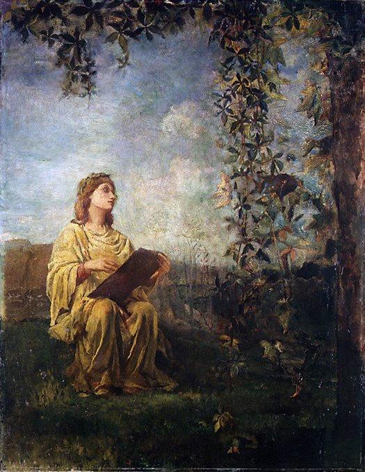 John La Farge - The Muse of Painting. Metropolitan Museum: part 2