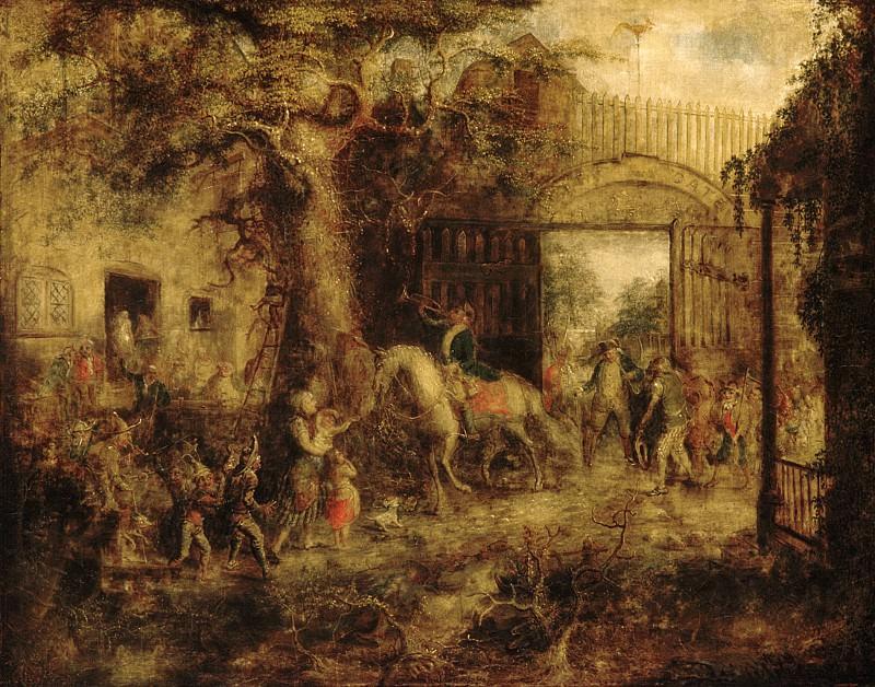 John Quidor - The Vigilant Stuyvesant's Wall Street Gate. Metropolitan Museum: part 2