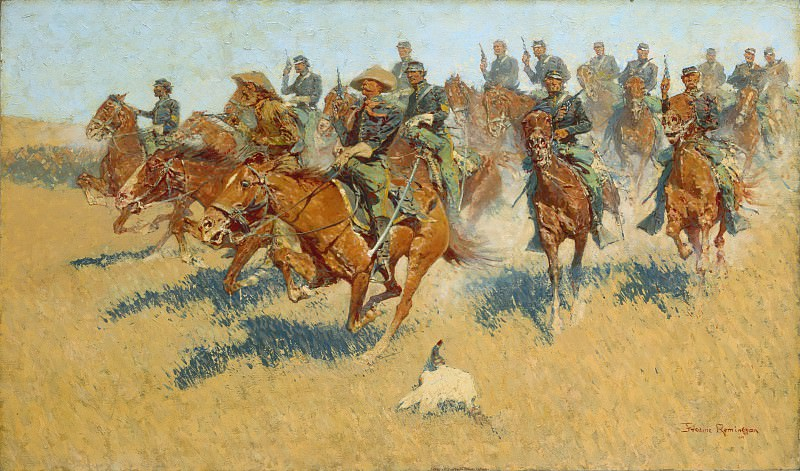 Frederic Remington - On the Southern Plains. Metropolitan Museum: part 2