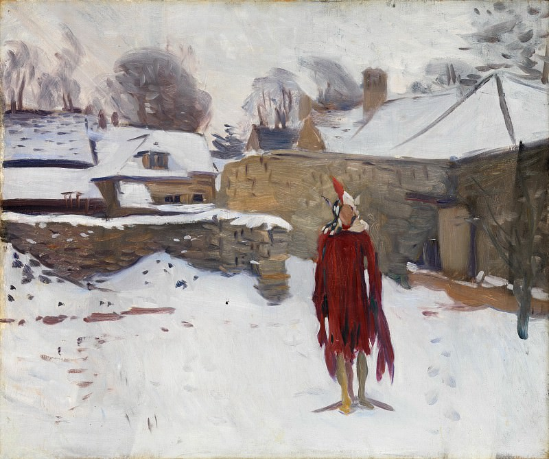 John Singer Sargent - Mannikin in the Snow. Metropolitan Museum: part 2