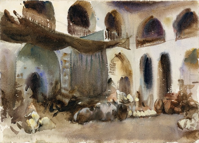John Singer Sargent - Market Place. Metropolitan Museum: part 2