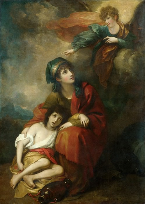 Benjamin West - Hagar and Ishmael. Metropolitan Museum: part 2