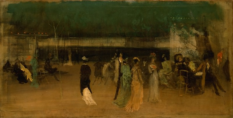 James McNeill Whistler - Cremorne Gardens, No. 2. Metropolitan Museum: part 2