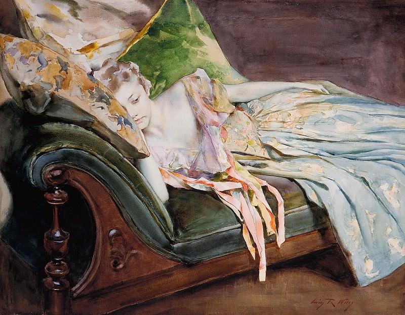 Irving Ramsey Wiles - The Green Cushion. Metropolitan Museum: part 2
