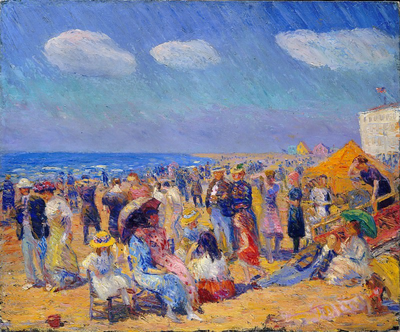 William Glackens - Crowd at the Seashore. Metropolitan Museum: part 2