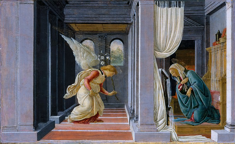 Botticelli (Italian, Florence 1444/45–1510 Florence) - The Annunciation. Metropolitan Museum: part 2