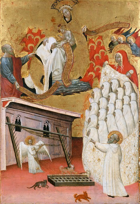 Attributed to Antonio da Viterbo the Elder - Santa Francesca Romana (1384–1440) Clothed by the Virgin. Metropolitan Museum: part 2