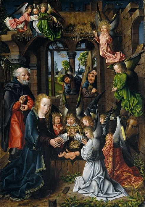 Workshop of the Master of Frankfurt - The Adoration of the Christ Child. Metropolitan Museum: part 2