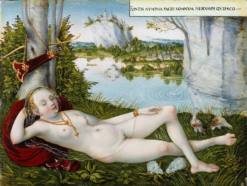 Lucas Cranach the Younger - Nymph of the Spring. Metropolitan Museum: part 2