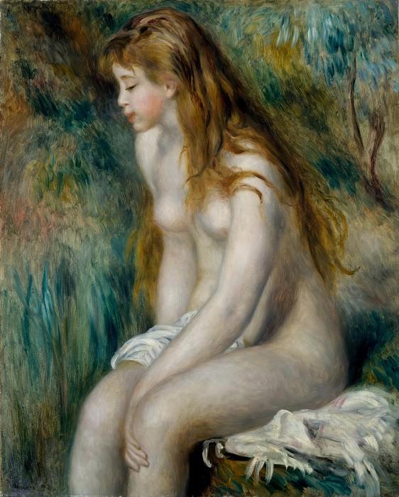 Auguste Renoir - Young Girl Bathing. Metropolitan Museum: part 2