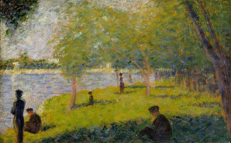 Georges Seurat - Study for A Sunday on La Grande Jatte. Metropolitan Museum: part 2