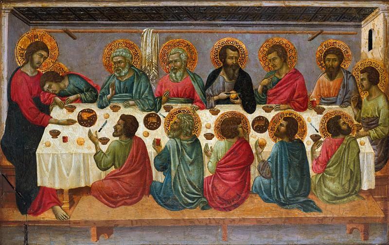Ugolino da Siena (Italian, Siena, active by 1317–died ?1339/49) - The Last Supper. Metropolitan Museum: part 2
