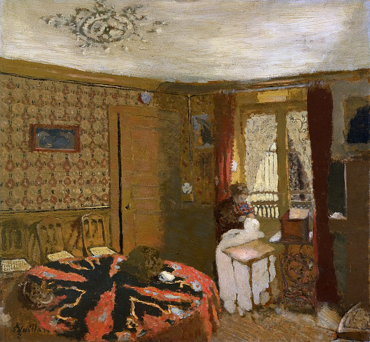 Édouard Vuillard - Mme Vuillard Sewing by the Window, rue Truffaut. Metropolitan Museum: part 2