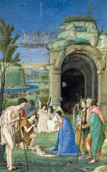 Francesco di Marco Marmitta da Parma - Adoration of the Shepherds. Metropolitan Museum: part 2