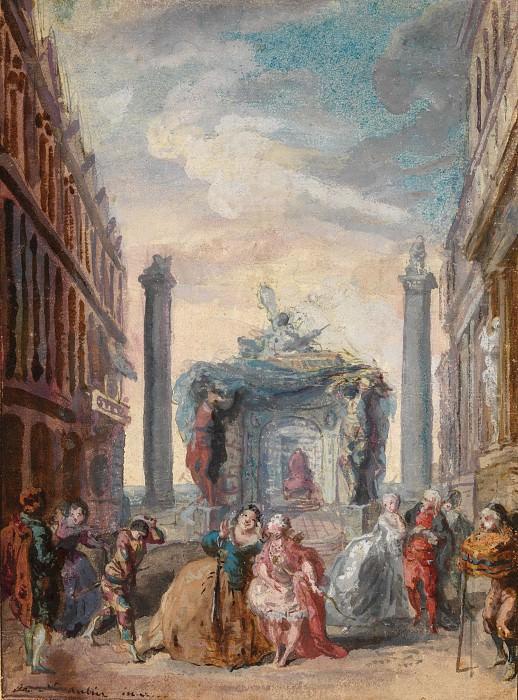 Gabriel de Saint-Aubin - Les fêtes vénitiennes. Metropolitan Museum: part 2