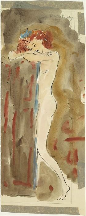 Marcel Vertès - Standing Female Nude. Metropolitan Museum: part 2