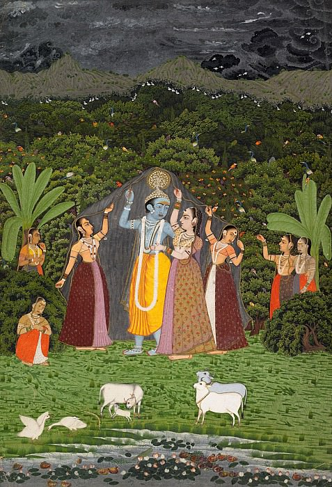 Unknown - Krishna and the Gopis Take Shelter from the Rain. Metropolitan Museum: part 2