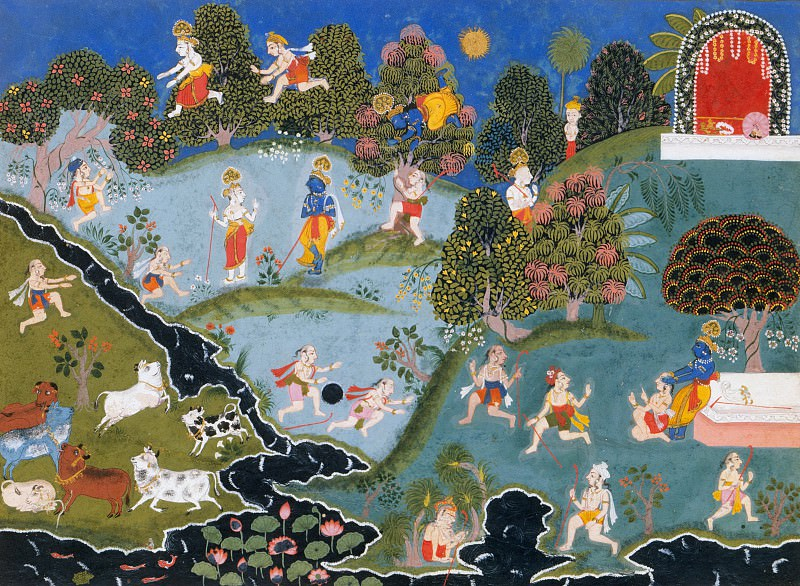 Unknown - Blindman's Bluff: Page From a Dispersed Bhagavata Purana (Ancient Stories of Lord Vishnu). Metropolitan Museum: part 2