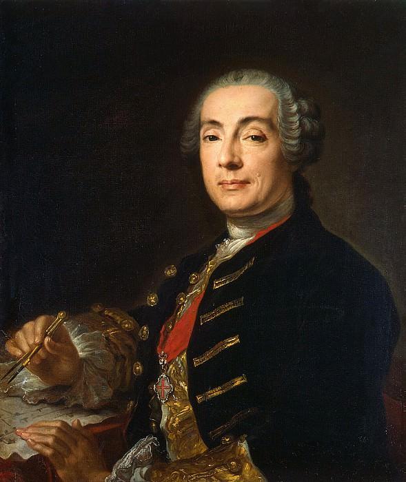 Pfantselt, Lucas Conrad - Portrait of the architect Francesco Bartolomeo Rastrelli. Hermitage ~ part 10