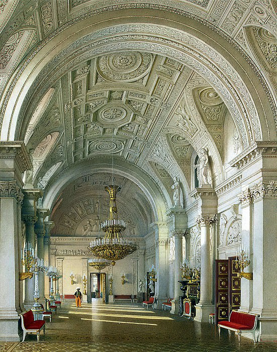 Premazzi, Luigi - Types of rooms of the Winter Palace. White Hall. Hermitage ~ part 10