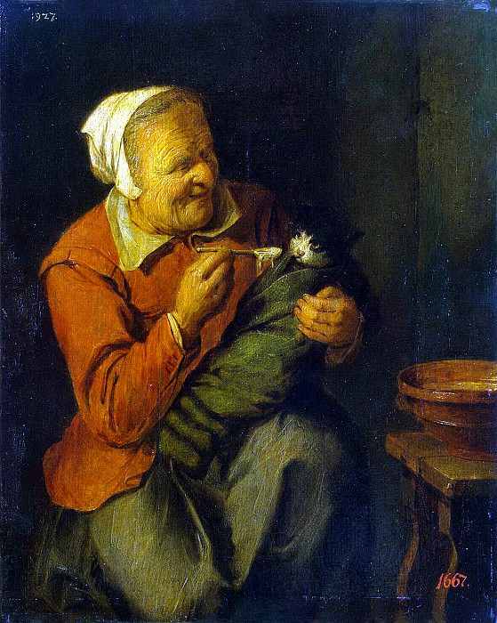 Reykart, David III - Peasant Woman with a Cat. Hermitage ~ part 10