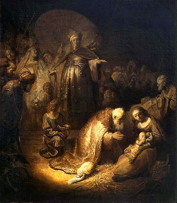 Rembrandt, Harmenszoon van Rijn - The Adoration of the Magi. Hermitage ~ part 10