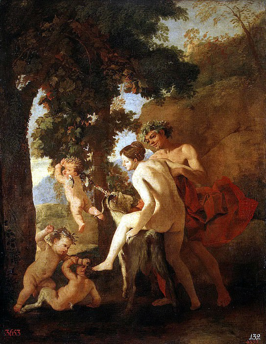Poussin, Nicolas - Venus, Faun and Putti. Hermitage ~ part 10