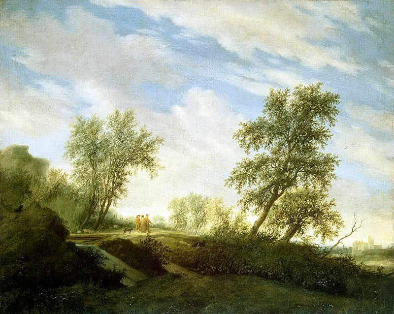 Ruisdael, Salomon van - Christ on the road to Emmaus. Hermitage ~ part 10