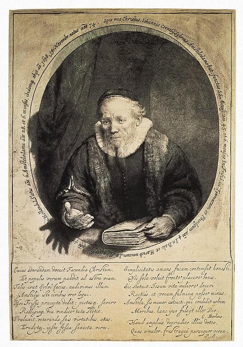 Rembrandt, Harmenszoon van Rijn - Portrait of the preacher John Silvius. Hermitage ~ part 10