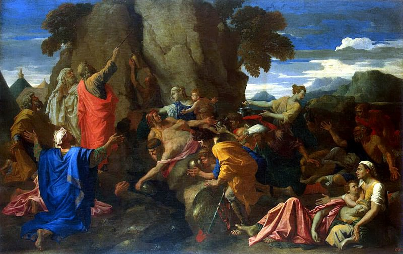 Poussin, Nicolas - Moses, excising the water from the rock. Hermitage ~ part 10