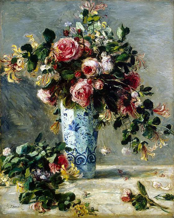 Ренуар, Пьер Огюст - Розы и жасмин в дельфтской вазе. Эрмитаж ~ часть 10