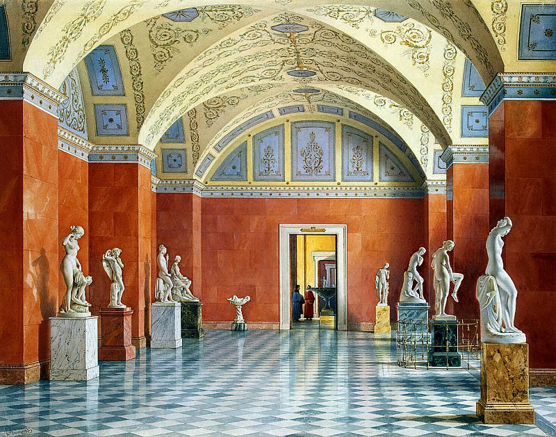 Premazzi, Luigi - Types halls of the New Hermitage. Hall of Russian sculpture. part 10 Hermitage