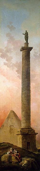 Robert, Hubert - Landscape with a Triumphal Column. Hermitage ~ part 10