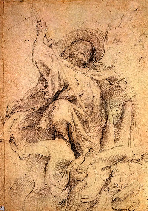 Rubens, Peter Paul - St. Athanasius. Turnover outline figures. Hermitage ~ part 10