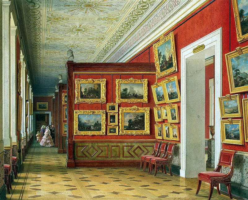 Premazzi, Luigi - Types of rooms of the New Hermitage. Gallery of Flemish paintings. Hermitage ~ part 10