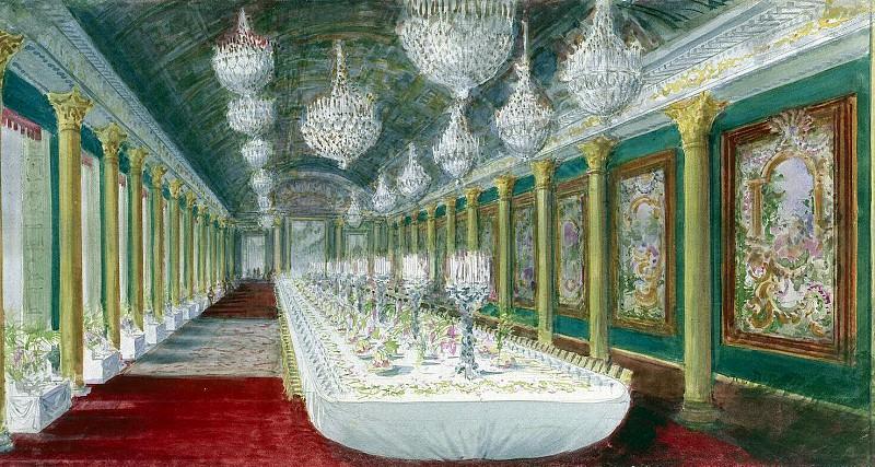 Пясецкий, Павел Яковлевич - Стол для торжественного обеда в бальном зале замка Компьень. Эрмитаж ~ часть 10