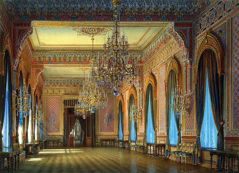 Premazzi, Luigi - Mansion of Baron AL Stieglitz. Dining room for dinner. Hermitage ~ part 10