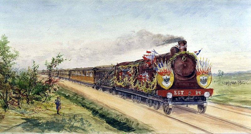 Piasecki, Pavel Ya - The Presidents train en route from Dunkirk to Compiegne. Hermitage ~ part 10